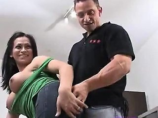 Sexy Brunette Tranny Gives Him A Surprise Drtuber