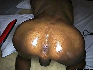 Spanking And Bareback Anal Of A Dark Skinned Ladyboy