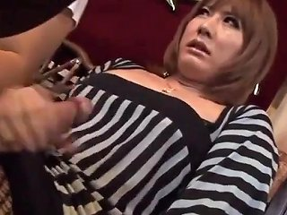 Japanese Ladyboy Cums Hard In Restaurant