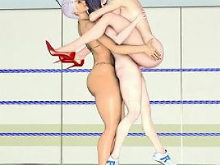 3d Hentai Shemale Smackdownn And Threesome Fucked In The Ring