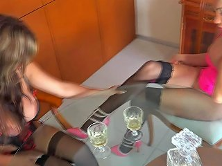 Angeles Cid Has A Drink With Naomi Chi Shemale Porn 03
